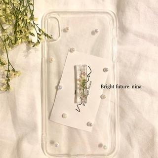 限定ノベルティプレゼント♡キラキラパールの押し花ドライフラワーiPhoneケース(iPhoneケース)