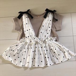 petit main - ♡petit  main♡ビスチェ付きTシャツ 100サイズ