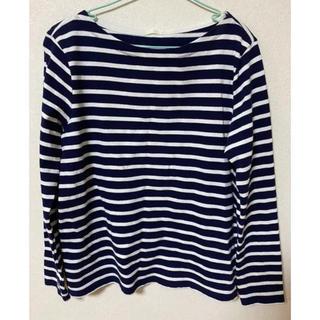 ジーユー(GU)のボーダーカットソー(Tシャツ/カットソー(七分/長袖))