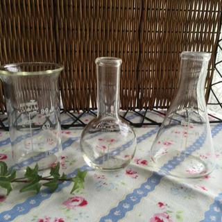 ★一輪挿し フラワーベース★3点セット ガラス(花瓶)