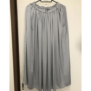 シマムラ(しまむら)のプチプラのあや サテンギャザースカート しまむら(ロングスカート)