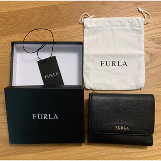 Furla - FURLA 黒 三つ折り財布