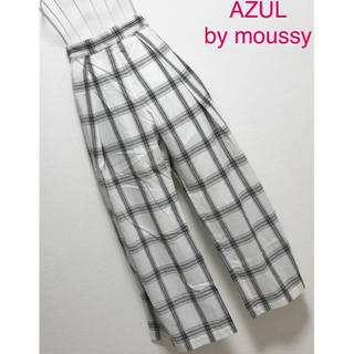 AZUL by moussy - AZUL by moussy♡ワイドチェックイージーパンツ