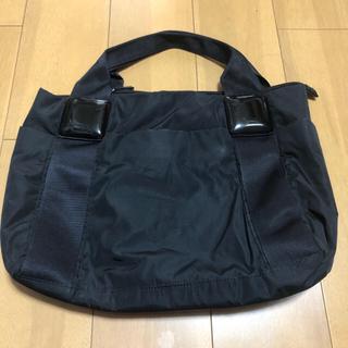 パピヨネ(PAPILLONNER)のお値下げ パピヨネ ナイロン樹脂パーツトートバッグ黒(トートバッグ)