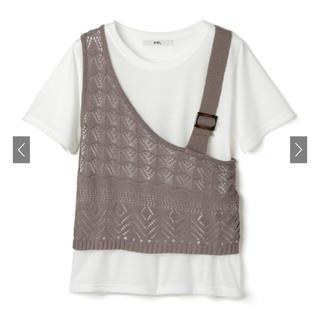 dholic - dholic Tシャツ 透かし編み
