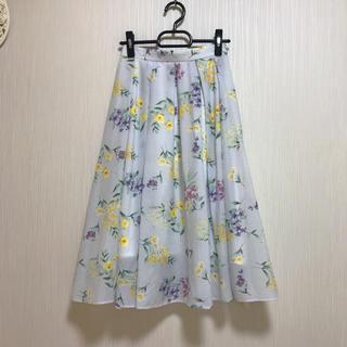 Noela - 美品 Noela    花柄 ストライプ スカート F