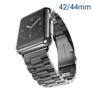 Apple Watch アップルウォッチ ベルト 黒 42/44mm(金属ベルト)
