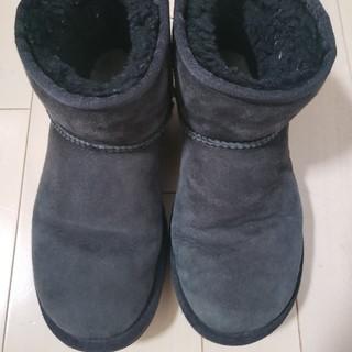 アグ(UGG)のUGG 黒 22センチ ショート ブーツ(ブーツ)
