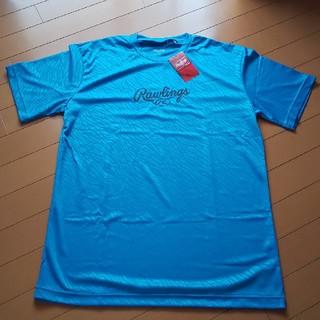 ローリングス(Rawlings)のローリングス Tシャツ ゼブラ ロゴ ブルー(ウェア)