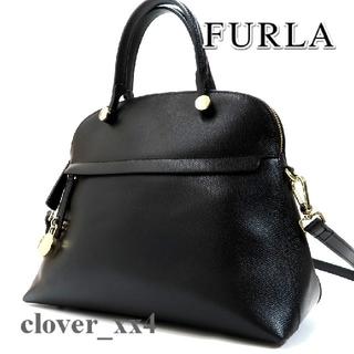 フルラ(Furla)のフルラ ショルダーバッグ 美品 パイパー M ブラック FURLA 2017(ショルダーバッグ)