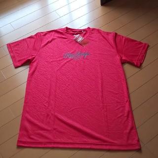 ローリングス(Rawlings)のローリングス Tシャツ ゼブラ ロゴ レッド(ウェア)