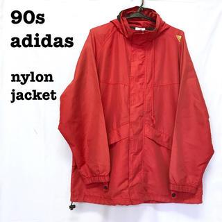 アディダス(adidas)の美品【 90s adidas  】 ナイロンジャケット マウンテンパーカー 国旗(マウンテンパーカー)