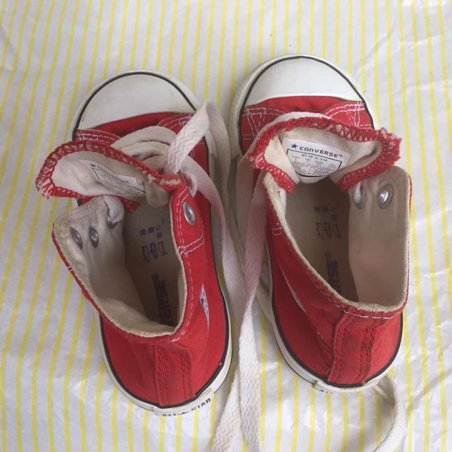 CONVERSE(コンバース)のコンバース オールスター レッド ハイカット 14cm キッズ/ベビー/マタニティのベビー靴/シューズ(~14cm)(スニーカー)の商品写真