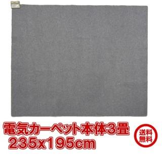 電気カーペット 本体 3畳 電器メーカーモリタ電工 1年保証(ホットカーペット)