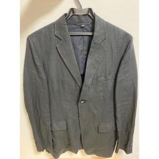 ムジルシリョウヒン(MUJI (無印良品))の無印良品 メンズ麻ジャケット Sサイズ 濃紺(テーラードジャケット)