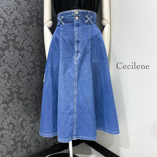 ヴィンテージ ◆ 日本製 ハイウエスト デニムスカート フレアスカート(ひざ丈スカート)