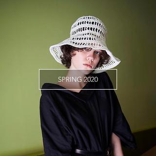 カシラ(CA4LA)のLa Maison de Lyllis TULIP WHITE 新品タグ付き(麦わら帽子/ストローハット)