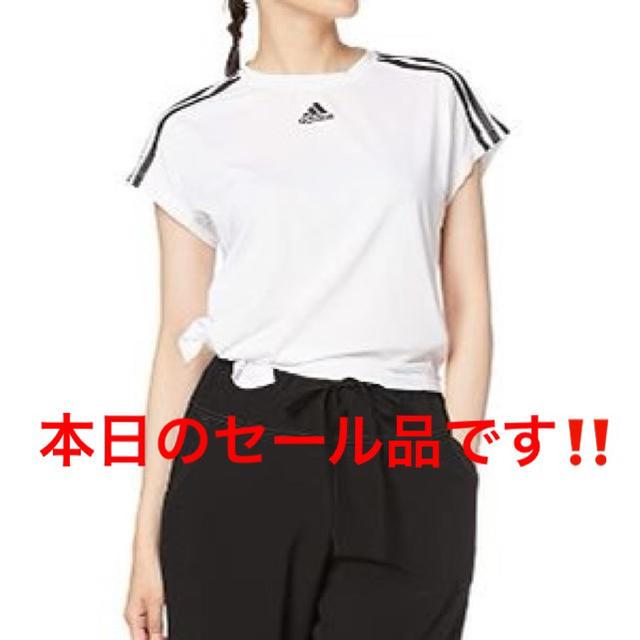 adidas(アディダス)の【定価¥3,839→】アディダス サイドタイ レディース Tシャツ レディースのトップス(Tシャツ(半袖/袖なし))の商品写真