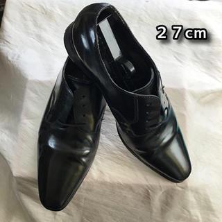 RITORNO プレーントゥ ビジネスシューズ 27cm ブラック 革靴