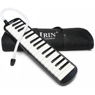 鍵盤ハーモニカ 32鍵 メロディーピアノ 立奏用唄口 卓奏用パイプ セット 収納(キーボード/シンセサイザー)