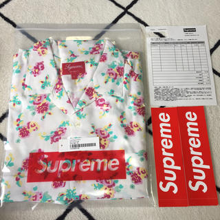 Supreme -  Supreme Floral Rayon S/S Shirt White