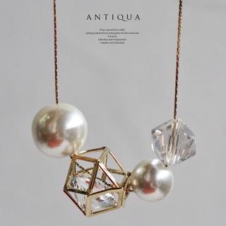 アンティカ(antiqua)のantiqua 大粒パールネックレス(ネックレス)