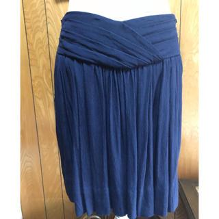 コントワーデコトニエ(Comptoir des cotonniers)のコントワーデコトニエ 短めの膝丈スカート ローウェスト サイズ38(ひざ丈スカート)