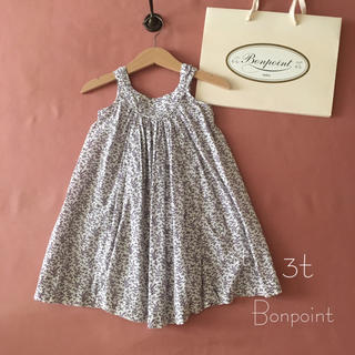 Bonpoint - Bonpoint ボンポワン|シックなラベンダー色小花ワンピース*̩̩̥୨୧˖