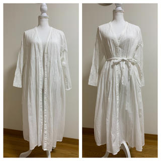 le.coeur blanc - シャツワンピース 羽織り コットン ロングワンピース