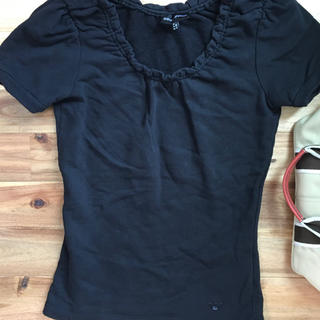 エンポリオアルマーニ(Emporio Armani)のEMPOLIO ARMANI Tシャツ カットソー トップス黒(カットソー(半袖/袖なし))