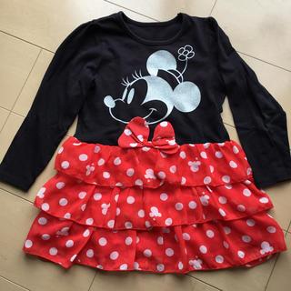 ディズニー(Disney)のミニー 長袖フリル ワンピース(ワンピース)