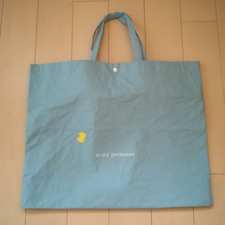 mina perhonen - ミナペルホネン ショップバッグ トート 袋 水色 ショップ袋 トートバッグ