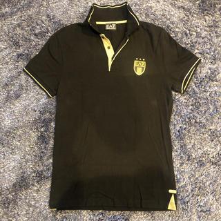 エンポリオアルマーニ(Emporio Armani)のARMANI エンポリオ アルマーニ メンズ ポロシャツ 黒金 日本サイズM程度(ポロシャツ)