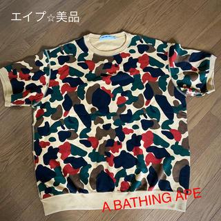 アベイシングエイプ(A BATHING APE)のA BATHING APE⭐︎美品エイプ M(Tシャツ/カットソー(半袖/袖なし))