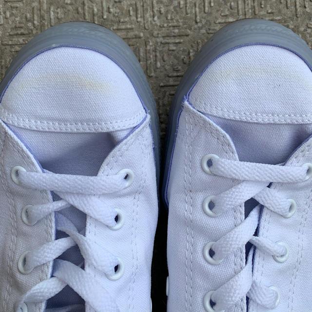 CONVERSE(コンバース)の専用です!コンバース 24 ホワイトxブルー レディースの靴/シューズ(スニーカー)の商品写真