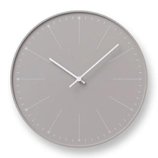 美品 Lemnos タカタ レムノス 壁掛け時計 ダンデライオン ベージュ(掛時計/柱時計)