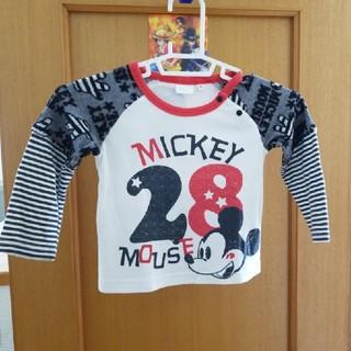 ディズニー(Disney)のディズニー 前も後ろもミッキー ロンT 子供服(Tシャツ/カットソー)
