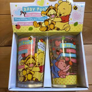 クマノプーサン(くまのプーさん)のくまのプーさん baby pooh ガラスコップ(グラス/カップ)