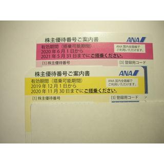 エーエヌエー(ゼンニッポンクウユ)(ANA(全日本空輸))のANAグループ優待券(2枚)(航空券)