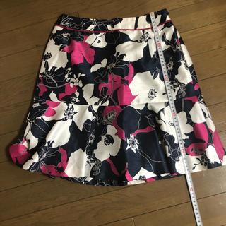 クイーンズコート(QUEENS COURT)のクイーンズコート花柄スカート 小さいサイズ(ひざ丈スカート)
