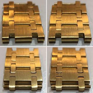 正規品 金無垢 ロイヤルオーク旧タイプ コマ3駒 オーディマピゲ 貴重(金属ベルト)