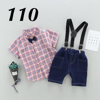 韓国子供服  チェック柄フォーマル セットアップ(ドレス/フォーマル)