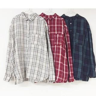 nest Robe - ネストローブ  リネンチェックシャツ