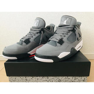 NIKE - NIKE AIR JORDAN 4 RETRO COOL GREY 28cm