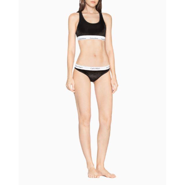 Calvin Klein(カルバンクライン)のCALVIN KLEIN UNDERWEAR ショーツ ベルベット 黒 XS レディースの下着/アンダーウェア(ショーツ)の商品写真