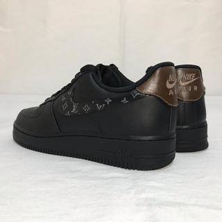 NIKE - nike air force 1 black customed LV 黒