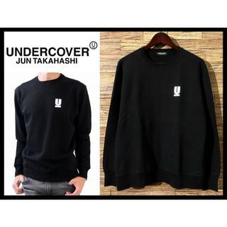 アンダーカバー(UNDERCOVER)の美品 アンダーカバー 限定 ワンポイント Uロゴ ベーシック スウェット L 黒(スウェット)