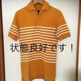 エイケイエム(AKM)の状態良好 AKM 鹿の子生地 ボーダー ポロシャツ 綺麗な色合い(ポロシャツ)