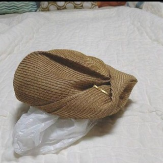 カシラ(CA4LA)のCA4LA 麦わらベレー帽(ハンチング/ベレー帽)