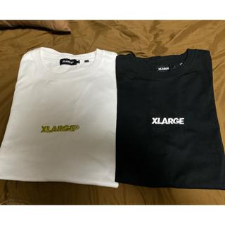 エクストララージ(XLARGE)のXLARGE tシャツ 2枚 L ホワイト ブラック 刺繍(Tシャツ/カットソー(半袖/袖なし))